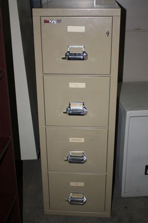 Fireproof Fireking 2 hour 4 drawer letter filing cabinet for Sale in GOODLETTSVLLE, TN