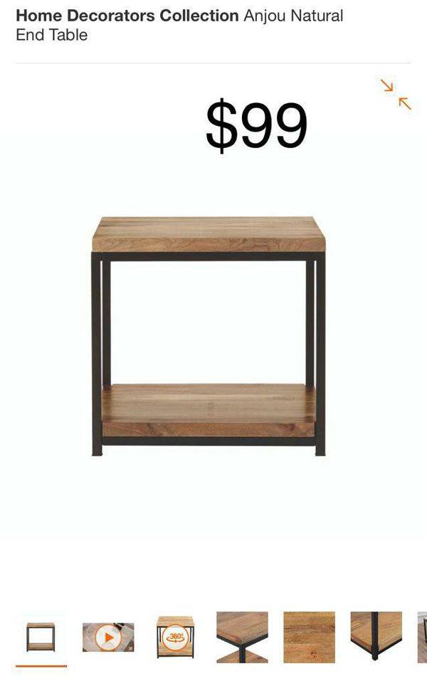 Home Anjou natural end table