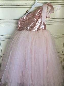 Pale Pink And Rose Flower Girl Dress Size 5 for Sale in Duluth,  GA