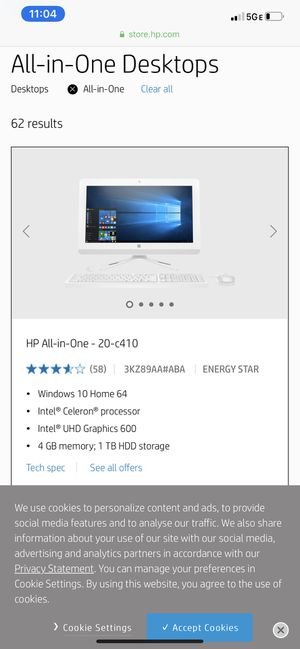 Hp all in one computer for Sale in Cape Coral, FL