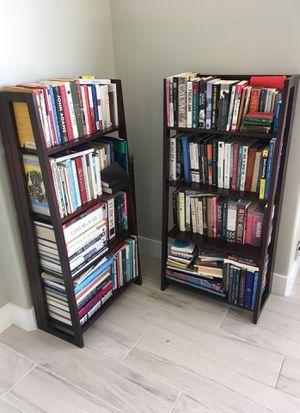 Bookshelves foldable dark wood for Sale in Carefree, AZ