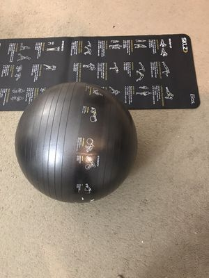 Yoga mat and exercise ball for Sale in Tampa, FL