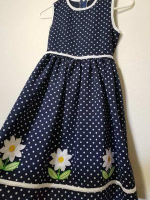 Girl's Dress - Blue White Polka Dot Flowers Summer for Sale in Santa Ana, CA