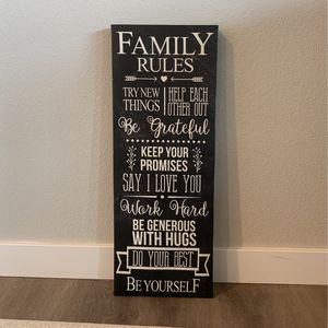Family Rules Poster for Sale in Camas, WA