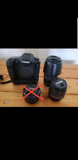 Canon 7D with lenses + extras for Sale in San Diego, CA