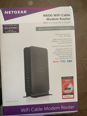 Modem and router 2 in 1 for Sale in Portage, MI