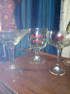 Collection of large martini glass beer glass wine glass has a large selection of other ones including narrow Monroe for Sale in Tacoma, WA