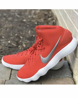 Nike Hyperdunk Mid 2017 TB 942571-600 Men's Shoes Red Metallic Silver Size 14 New without box for Sale in French Creek, WV
