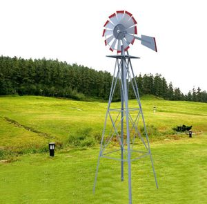 Home Decor Country Farmhouse Rustic Metal Windmills For The House Yard Outdoor Garden Weather Vane Wind Spinner Turbine for Sale in Henderson, NV