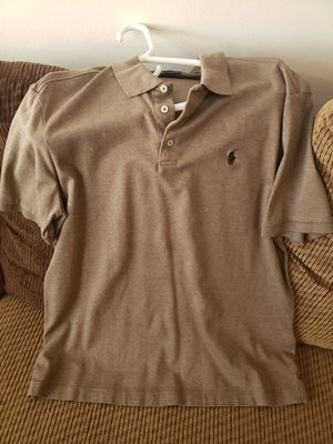 Ralph Lauren polo brown polo shirt size large for Sale in Downey, CA
