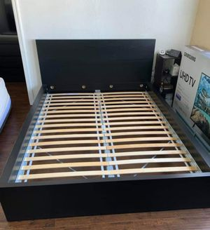 Lk NEW ! Ikea Black Malm HIGHBACK Queen Sz Size Bedframe Bed Frame (Mattress EXTRA $65) for Sale in Monterey Park, CA