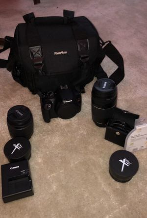 Canon t6 with 18-55 mm lense and 75-300 mm lense for Sale in Centennial, CO
