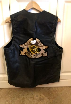 Genuine leather vintage men's motorcycle vest for Sale in North Palm Beach, FL