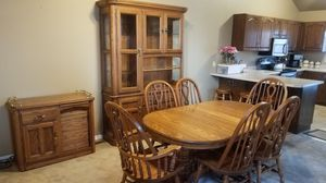 Dining Set- expandable table, 6 chairs, china hutch, buffet/bar for Sale in Salt Lake City, UT