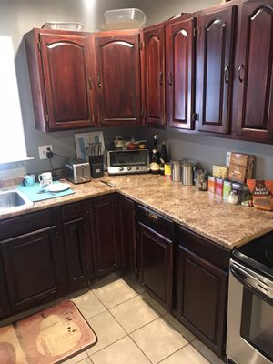 Wood kitchen cabinets and top for Sale in Pawtucket, RI