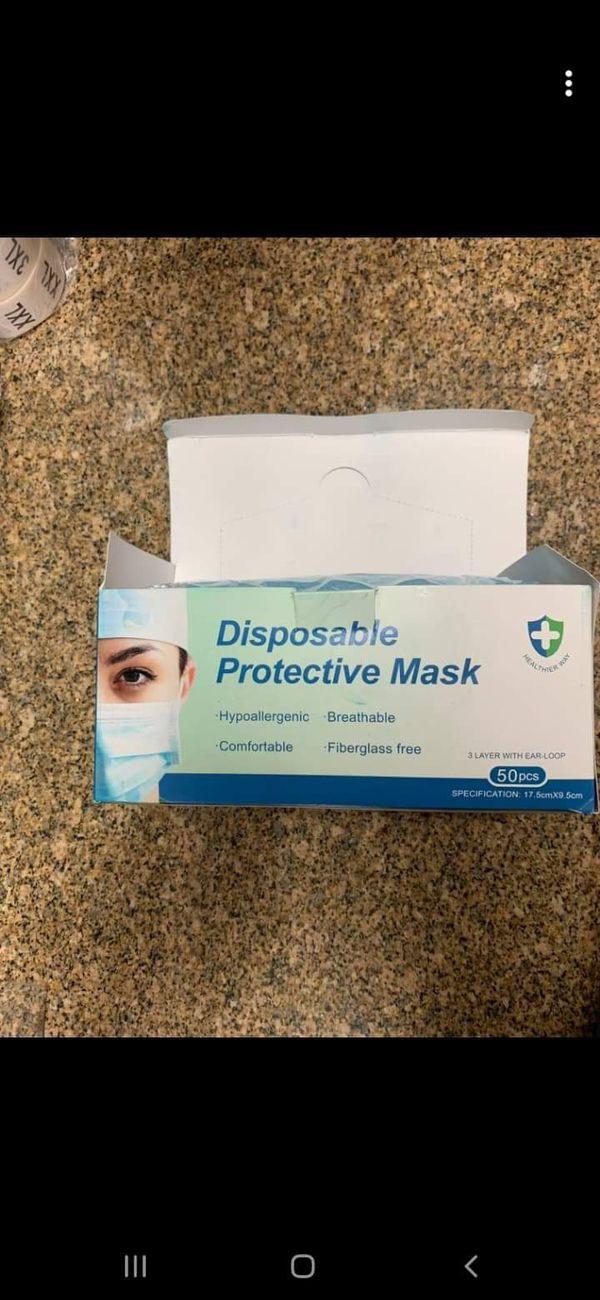 Disposable mask mouth/nose 50pieces/piecas