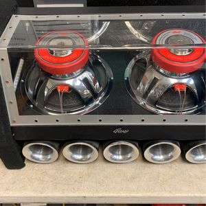 Genesis 12 twin subwoofers In Plexi box. for Sale in Fort Lauderdale, FL