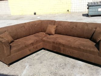 NEW 7X9FT BROWN MICROFIBER SECTIONAL COUCHES for Sale in Whittier,  CA