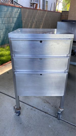 Stainless steel rolling cart for Sale in Los Angeles, CA