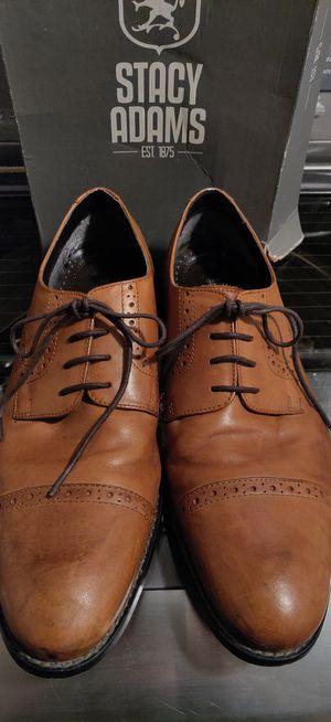 Size 9.5 Stacy Adams Men's Dress Shoes BROWN for Sale in San Antonio, TX