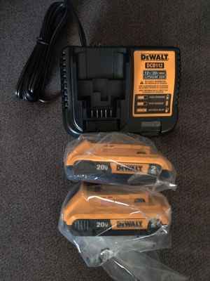 DeWalt 20v Batteries & Charger for Sale in Phoenix, AZ