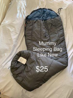 Zero Temp Mummy Sleeping Bag - Excellent Condition for Sale in Phoenix, AZ