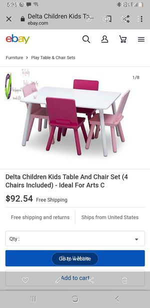 New KIDS TABLE WITH 4 CHAIRS for Sale in Glendale, AZ