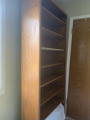 Oak bookcase for Sale in Chico, CA