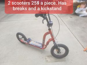 2 Scooters with kickstand and hand breaks 25$ Each OBO for Sale in Washington, PA