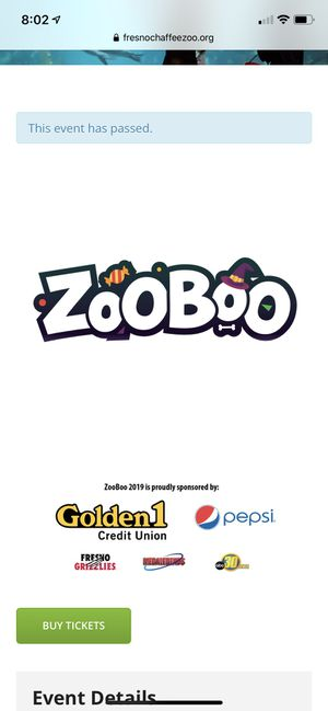 Zooboo tickets for Sale in Fresno, CA