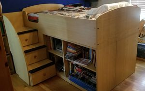 Kids Wooden Bed for Sale in San Jose, CA