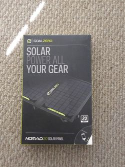 Goal Zero Nomad 20, Foldable Solar Panel Charger for Sale in Los Angeles,  CA