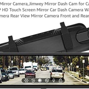 Brand New Rear View Mirror Camera,Jimwey Mirror Dash Cam for Cars 10 inch 1080P HD Touch Screen Mirror Car Dash Camera Waterproof Backup Camera Rear V for Sale in Garden Grove, CA