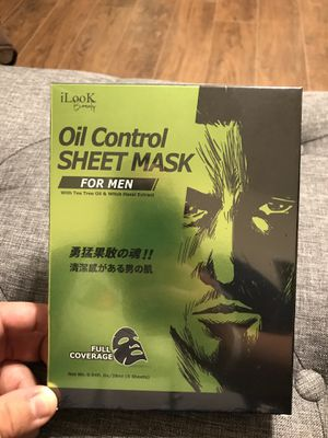 iLook Beauty Men's OIL CONTROL FACE SHEET MASK FOR MEN for Sale in Ceres, CA