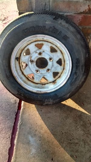 """12""""5 lug trailer rim and tire for Sale in Austin, TX"""