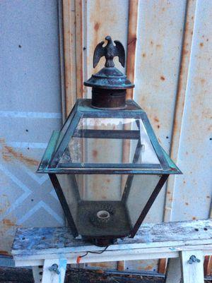 Vintage Rustic Copper & Glass Lamp Post Cover - Eagle Design for Sale in Tampa, FL