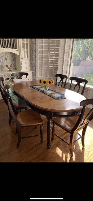Great 7-piece dining kitchen set, oval table, 6 chairs for Sale in Tempe, AZ