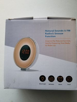 Clock Radio Alarm mood light for Sale in Dallas, TX