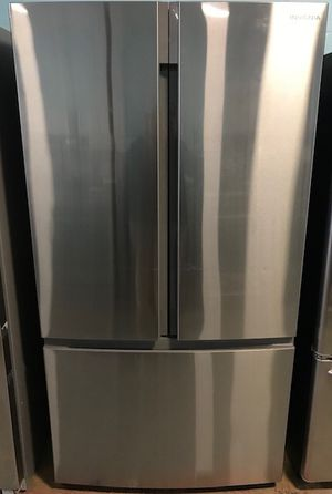 Insignia stainless steel French door freezer fridge for Sale in Reisterstown, MD