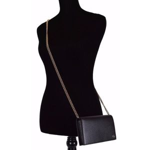 Gucci Black Leather GG Interlocking Crossbody Purse Wallet for Sale in ROWLAND HGHTS, CA