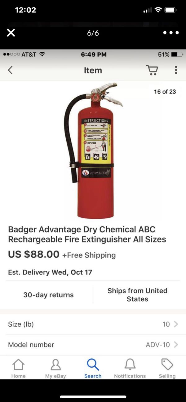 AMEREX B500 FIRE EXTINGUISHER FULLY CHARGED WITH INSPECTION TAG $30 EACH 10lb $45 EACH 16 LB.