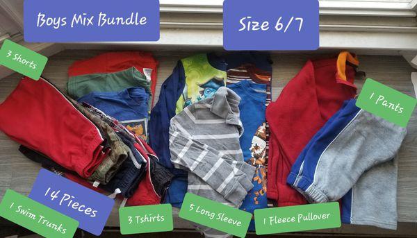 Boys Mix Bundle Size 6/7 (QTY14)