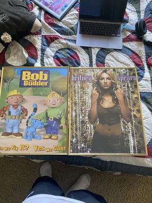 Framed Britney Spears Poster and Bob the builder for Sale in West Sacramento, CA