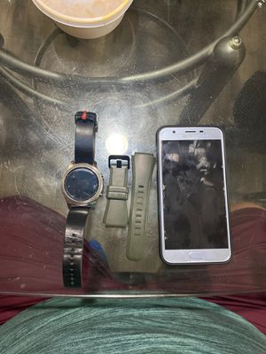 Samsung Galaxy J7 Star, Gear S3 Classic and extra band for Sale in Thornton, CO
