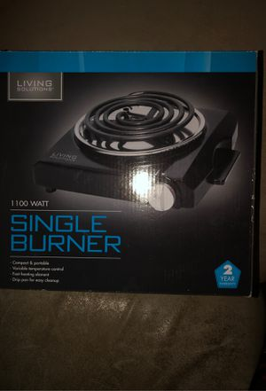 Living Solutions- Single Burner for Camper/RV for Sale in Plainfield, IL