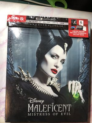 Maleficent Mistress of Evil 4K+Blu-ray Limited Edition for Sale in Washington, IA