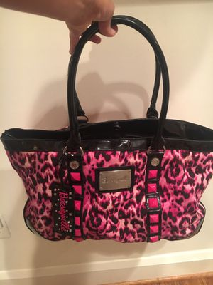 Betsey Johnson unique pink leopard tote bag for Sale in Rockville, MD