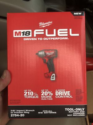 """Milwaukee FUEL M18 3/8"""" Impact Wrench w/ Friction Ring NEW for Sale in Claremont, CA"""