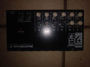 Midiman multimixer 6 channel mixer for Sale in Eustis, FL