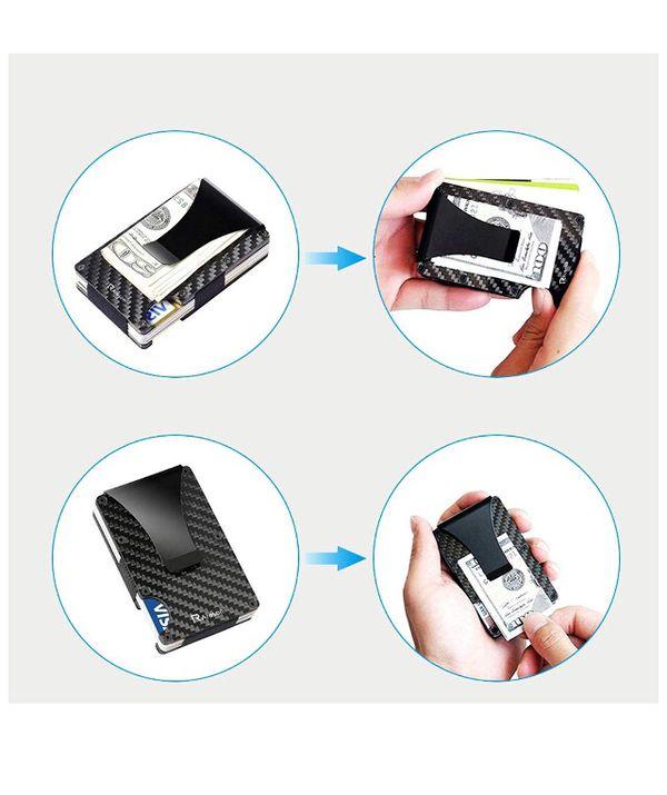Carbon fiber slim card holder -brand name